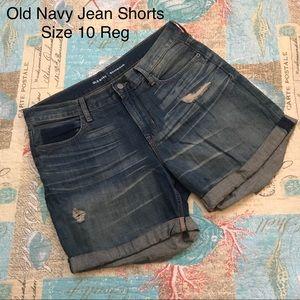 Old Navy Boyfriend Rolled Jean Shorts 10 Regular
